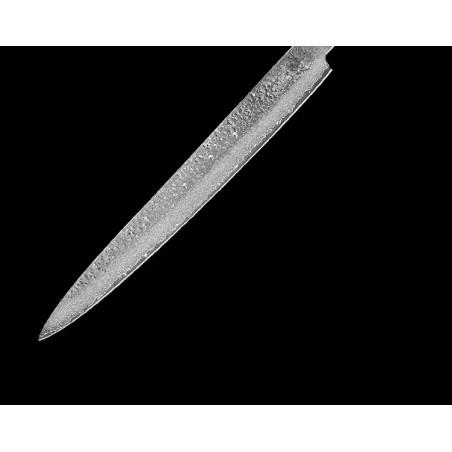 """Dlouhý úzký profesionální kuchyňský nůž Chef 10"""" z damaškové oceli VG-10, 67-ti vrstvý, pro šéfkuchaře, na maso, na sushi"""