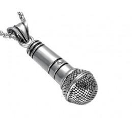 Prívesok veľký mikrofón s retiazkou, pre spevákov, hiphoperov, rapperov, beatboxerov