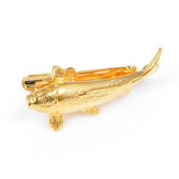 Spona na kravatu pre rybárov, zlatý sumec