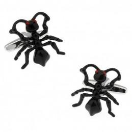 Manschettenknöpfe schwarze Ameise