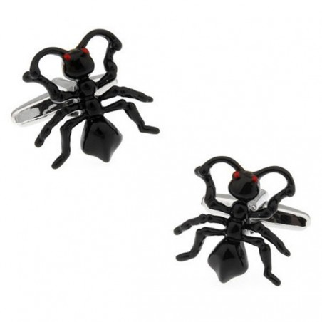 Manžetové knoflíčky černý mravenec