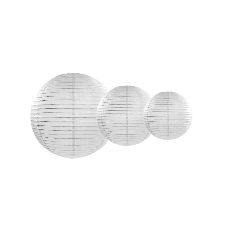 Okrągły lampion biały