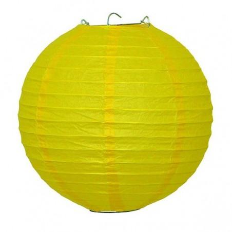 Lampión papierový guľatý dekoratívny žltý 30, 40 cm