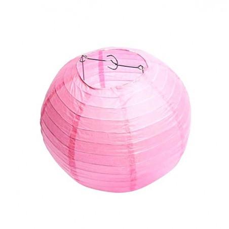 Lampion kulatý papírový růžový 22, 30, 40cm