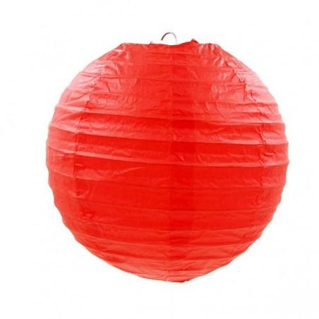 Červený lampión guľatý
