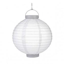 Lampion kulatý papírový s LED žárovkou, 22cm, s vypínačem