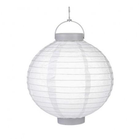 Lampion závěsný zahradní kulatý papírový s LED diodou, 30cm