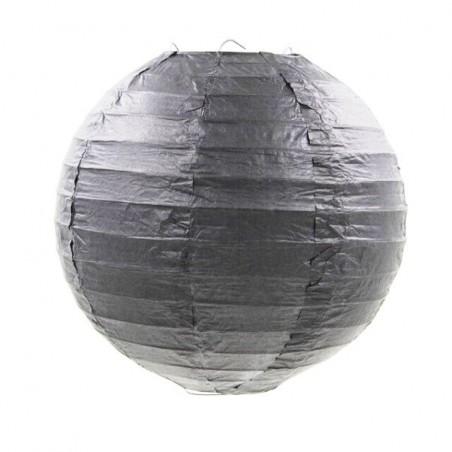 Lampion dekorativní závěsný kulatý černý 30, 40cm