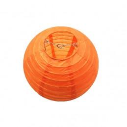 Lampion kulatý papírový party oranžový 30, 40cm