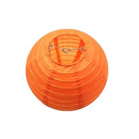 Lampión guľatý papierový party oranžový 30, 40cm