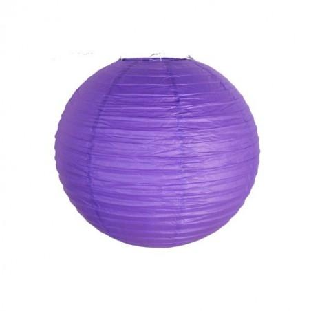Lampión guľatý dekoratívnY papierový fialový 30, 40 cm