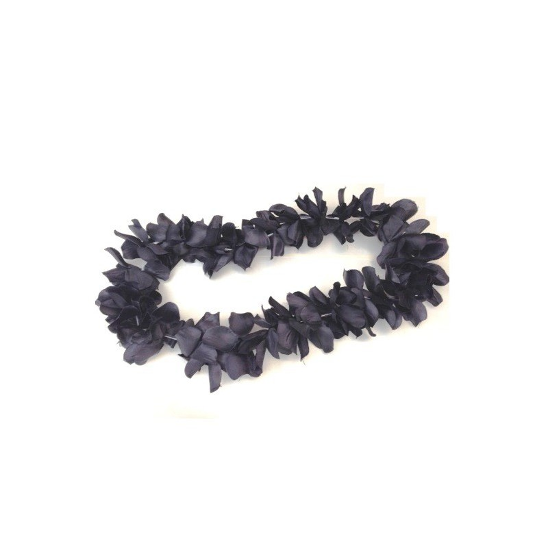 Havajský party květinový věnec černý