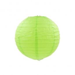 Lampión party, svadobný guľatý papierový svetlo zelený 30, 40cm