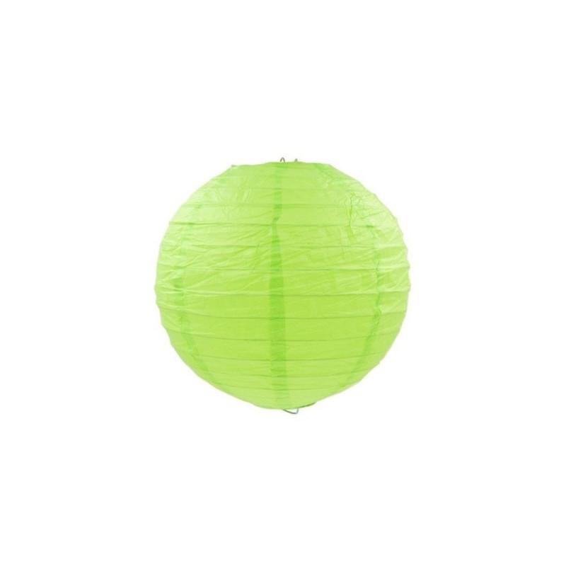 Lampion party, svatební kulatý papírový světle zelený