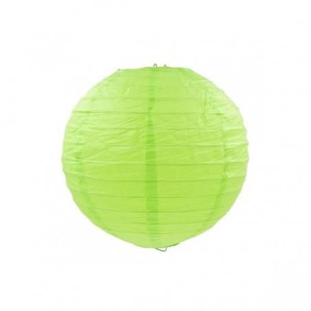 Guľatý lampión zelený