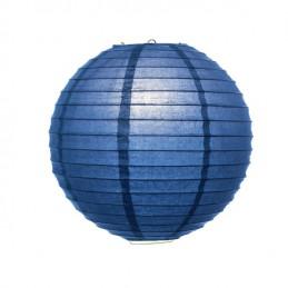 Lampion kulatý modrý, party dekorace, papírový 30, 40cm