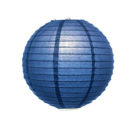 Lampión guľatý modrý, party dekorácie, papierový 30, 40cm