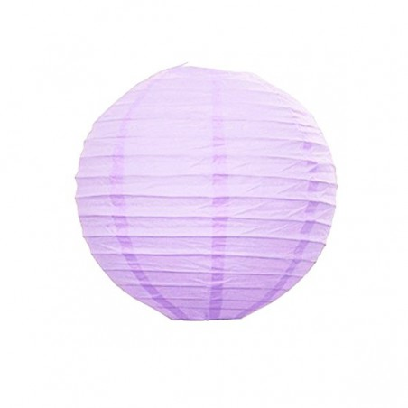 Lampion party, kulatý, papírový svatební světle fialový 30, 40cm