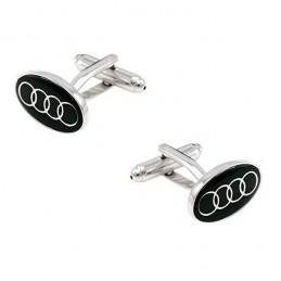 Manschettenknöpfe mit dem Motiv Audi oval