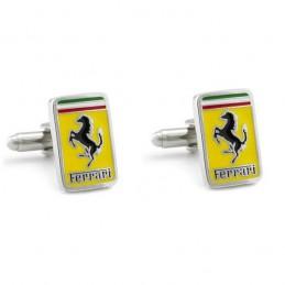 Manžetové knoflíčky obdélníkové s motivem Ferrari
