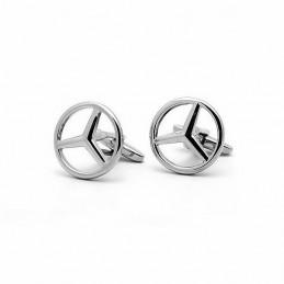Spinki do mankietów Mercedes Benz stalowe