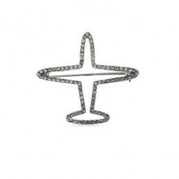 Brosstű ezüst repülőgép