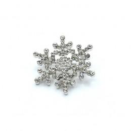 Broszka płatek śniegu - śnieżynka