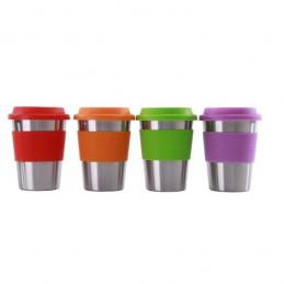 Ekologický kelímek na kávu, čaj, opakovaně použitelný nerezový pohárek