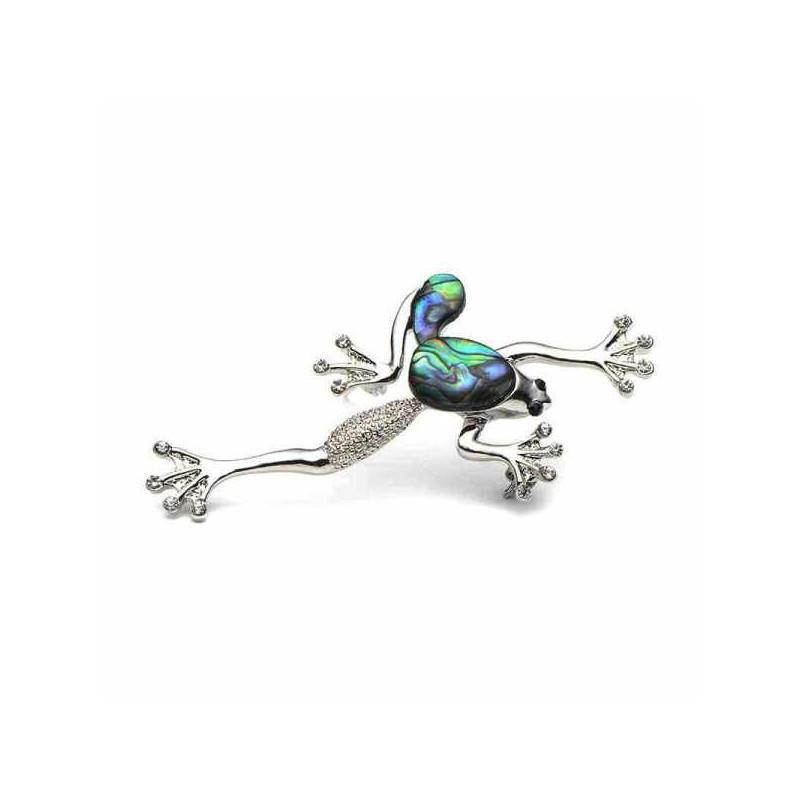 Brož opálová žabka, žába z mušle