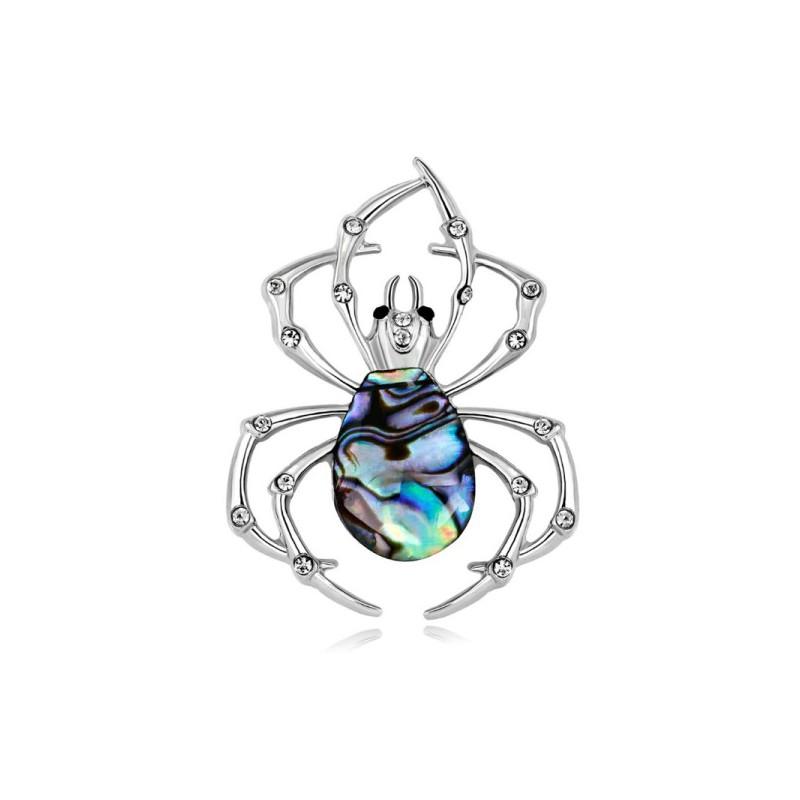 Brož opálová pavouk, pavouček z mušle