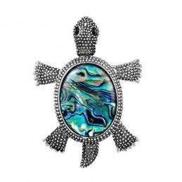 Brož opálová želva, želvička z mušle