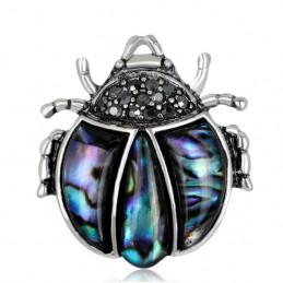 Brož opálová žabka, žaba z mušle