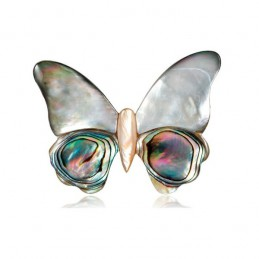 Brož opálová motýl, motýlek z mušle