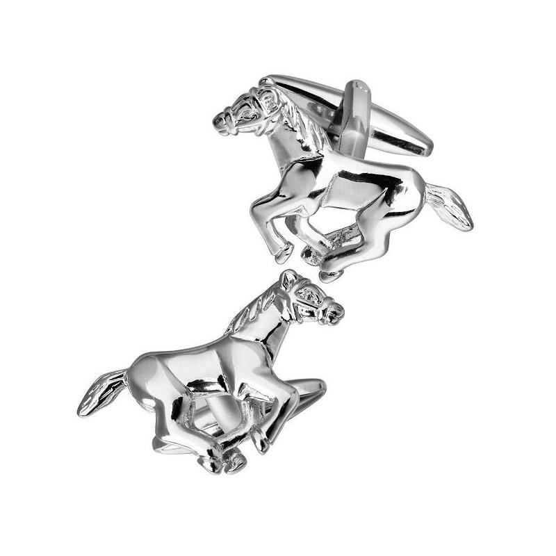 Manžetové knoflíčky pádící, běžící kůň