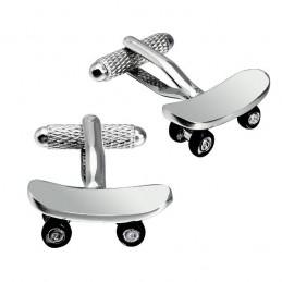 Manžetové gombíky skate, skateboard, pre skejťáka elegána