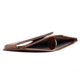 Peněženka mini, pouzdro na karty, RFID, s magnetickým klipem, z pravé kůže