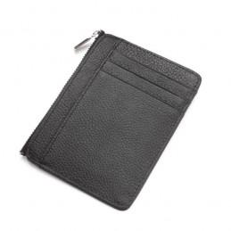 RFID skórzany portfel, męski, prawdziwa skóra