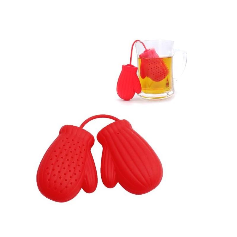 Čajové sítko silikonové, ze silikonu, boxerské rukavice