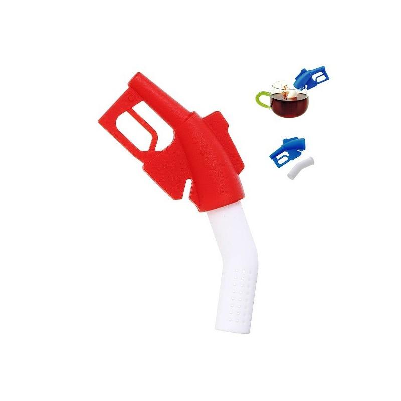 Čajové sítko silikonové tankovací pistole, ze silikonu