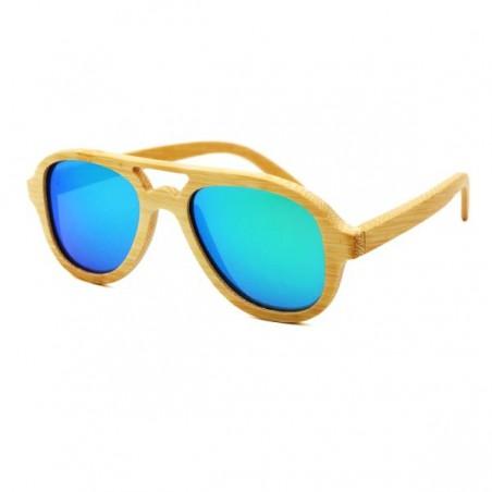 Dřevěné sluneční brýle letecké, pilotky