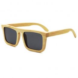 Bambusové sluneční brýle Nerd s barevnými zrcadlovými  skly