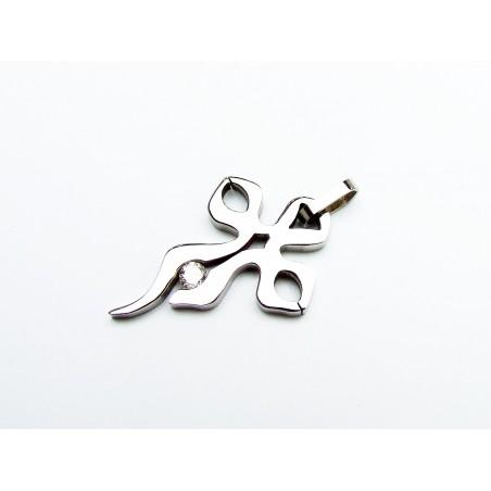 Halskette Stahl Anhängsel mit dem Stein