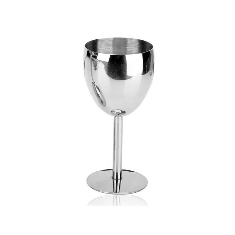 Nerezová nerozbitná vinná sklenička na bílé víno, pohár na víno