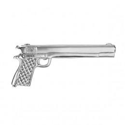 Spona na kravatu s motívom automatická zbraň, pištoľ