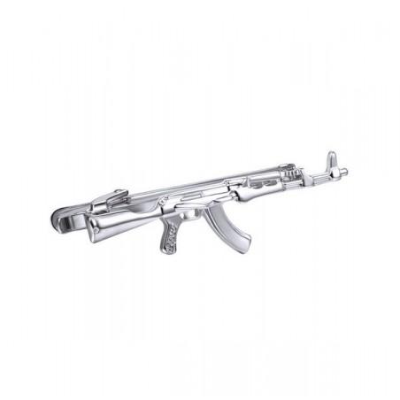 Spona na kravatu s motivem samopal AK 47