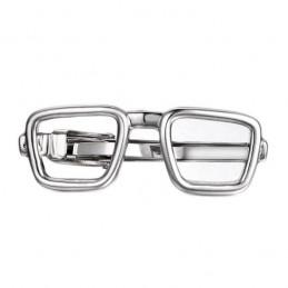 Spona na kravatu s motívom okuliare, obrúčky Nerd