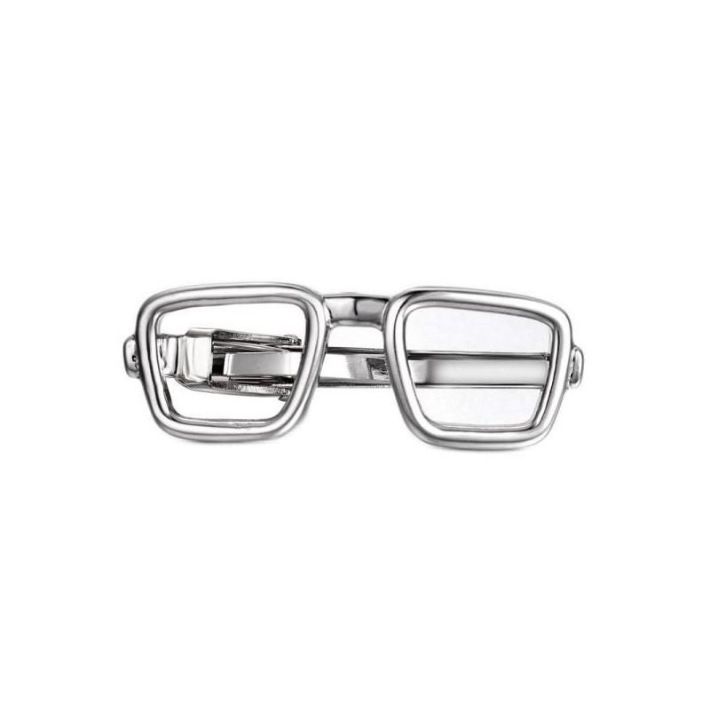 Spona na kravatu s motivem brýle, obroučky Nerd