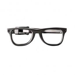 Spona na kravatu s motivem brýle, obroučky