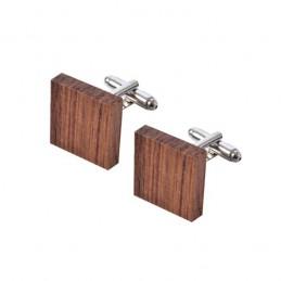 Manžetové knoflíčky dřevěné čtvercové