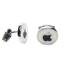 Manžetové gombíky okrúhle s motívom Apple